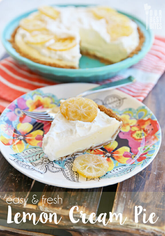 Lemon Cream Pie from Our Best Bites