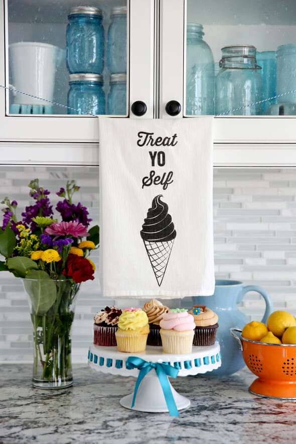 Treat Yo Self Tea Towel