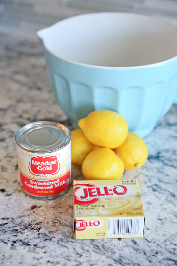 Lemon Cream Pie Ingredients