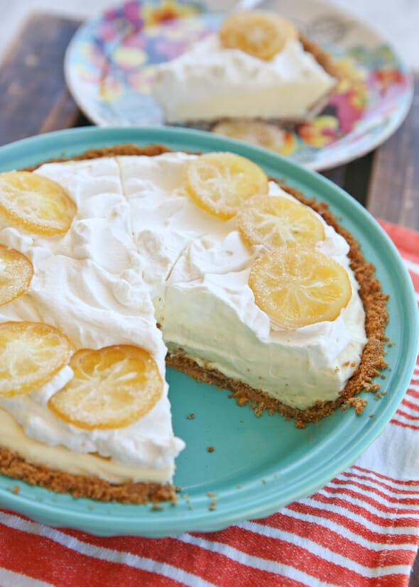 Lemon Pie with missing slice