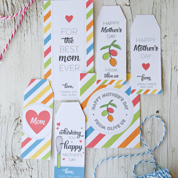 Mother's Day Gift Tag Printables
