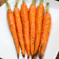 roasted whole carrots square