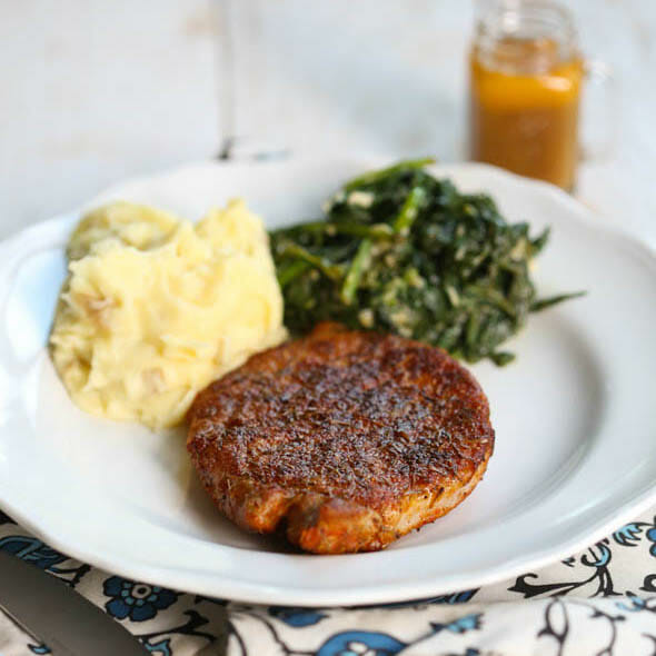 Blue Apron Review + Spiced Pork Chops