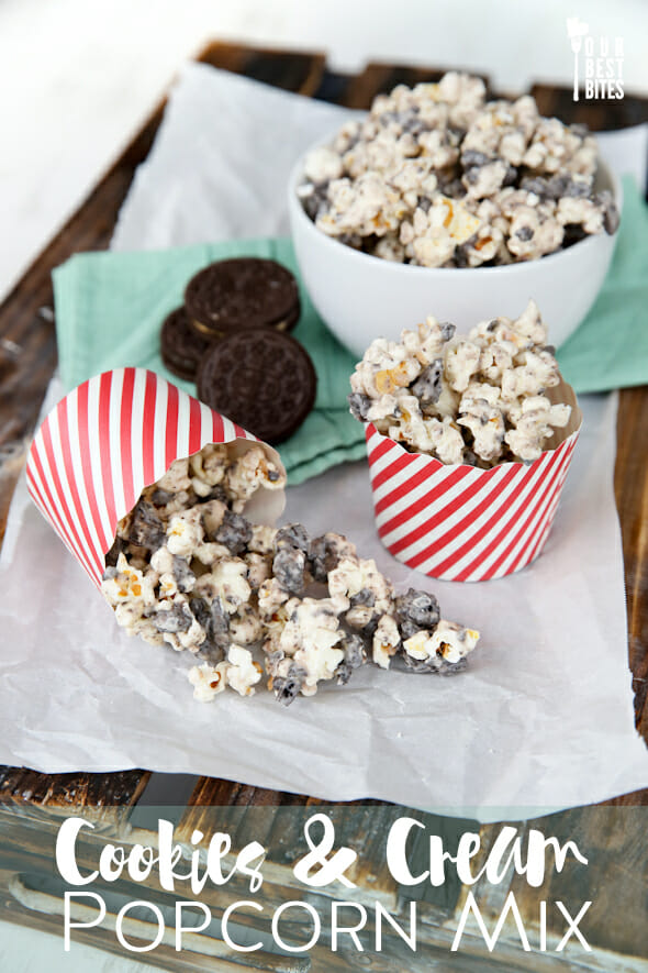 Cookies and Cream Popcorn Mix from Our Best Bites