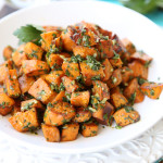 Roasted Sweet Potatoes with Chimichurri