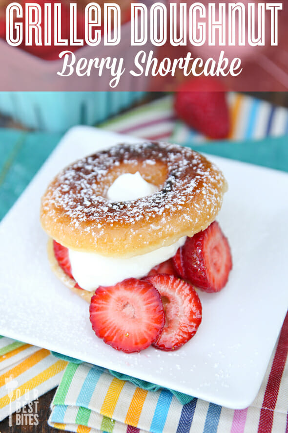 Grilled Doughnut Strawberry Shortcake