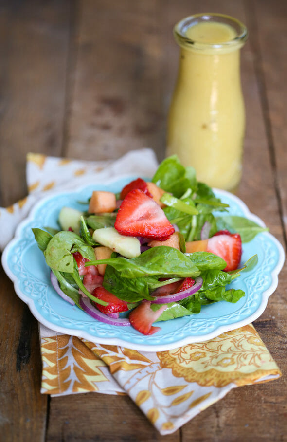 Strawberry, Cucumber, and Melon Salad