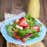 Strawberry, Cucumber, and Melon Salad with Dijon Vinaigrette