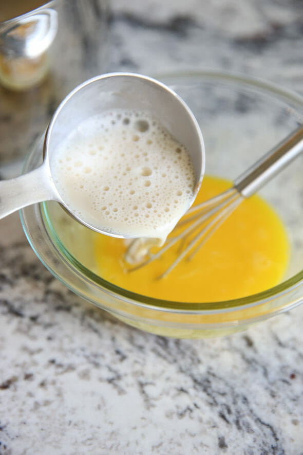 Tempering Eggs for Buttermilk Ice Cream
