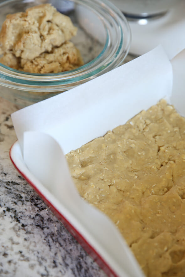 Cookie Dough Pressed in Pan