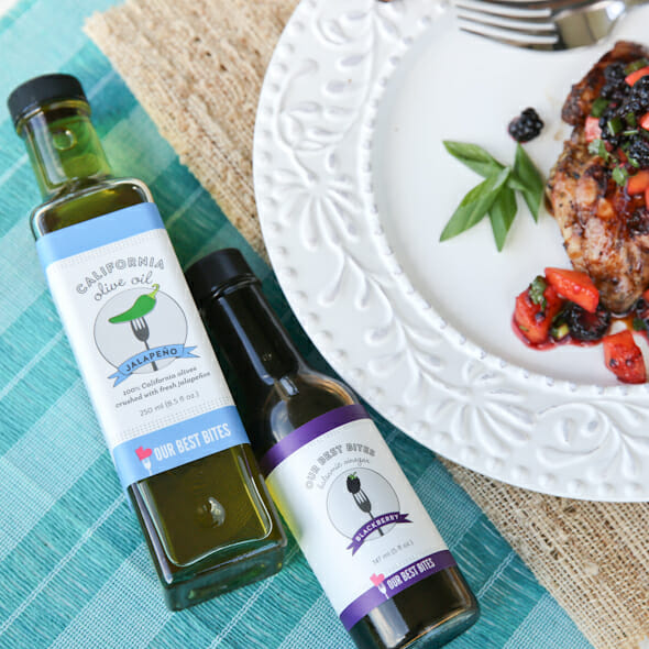 Jalapeno Grilled Chicken with Blackberry Peach Salsa
