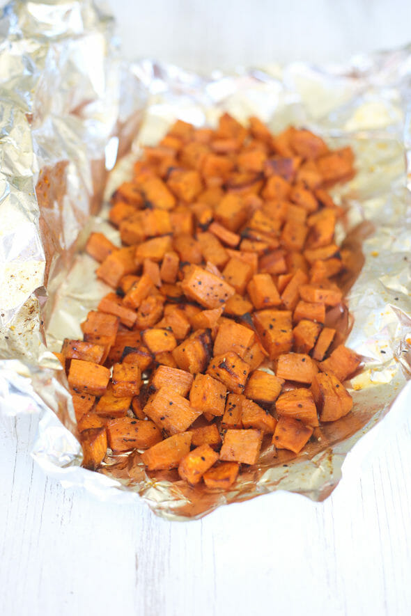Cooked Roasted Sweet Potatoes