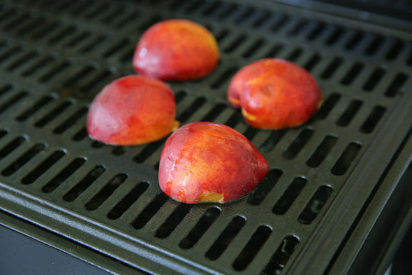Peaches on Grill