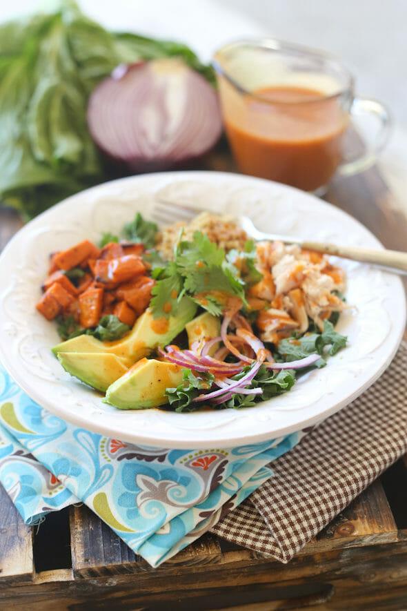 Roasted Sweet Potato Chicken Quinoa Salad - Our Best Bites