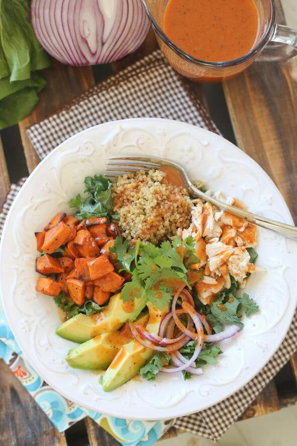 Roasted Sweet Potato Salad with Smoked Paprika Vinaigrette