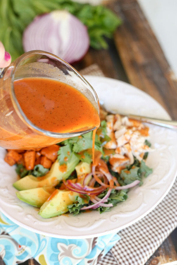 Smoked Paprika Vinaigrette over Salad