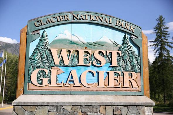 glacier sign