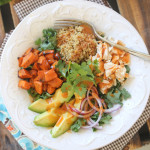 Roasted Sweet Potato Chicken Quinoa Salad