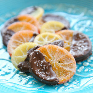 Salted Chocolate Covered Candied Citrus Slices