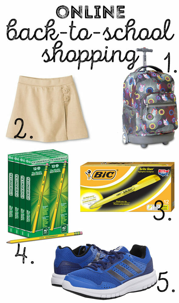 online back to school shopping