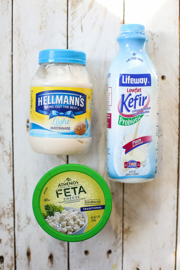 Creamy Feta and Dill Salad Dressing_refrigerated items