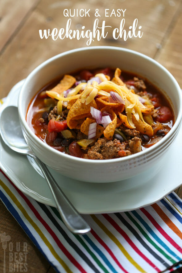 Easy Weeknight Chili from Our Best Bites