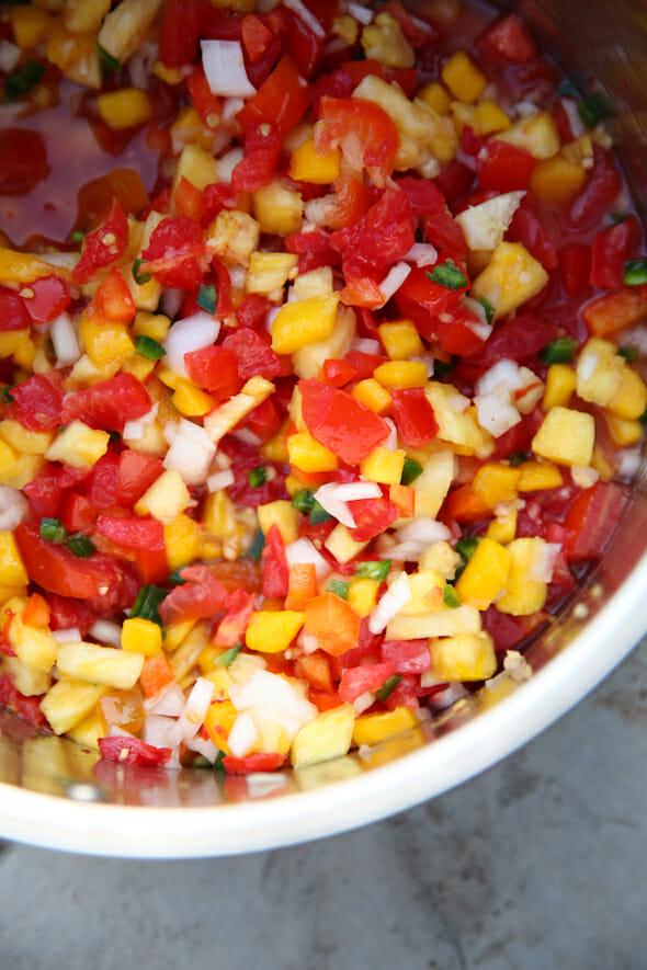 pineapple salsa mixed