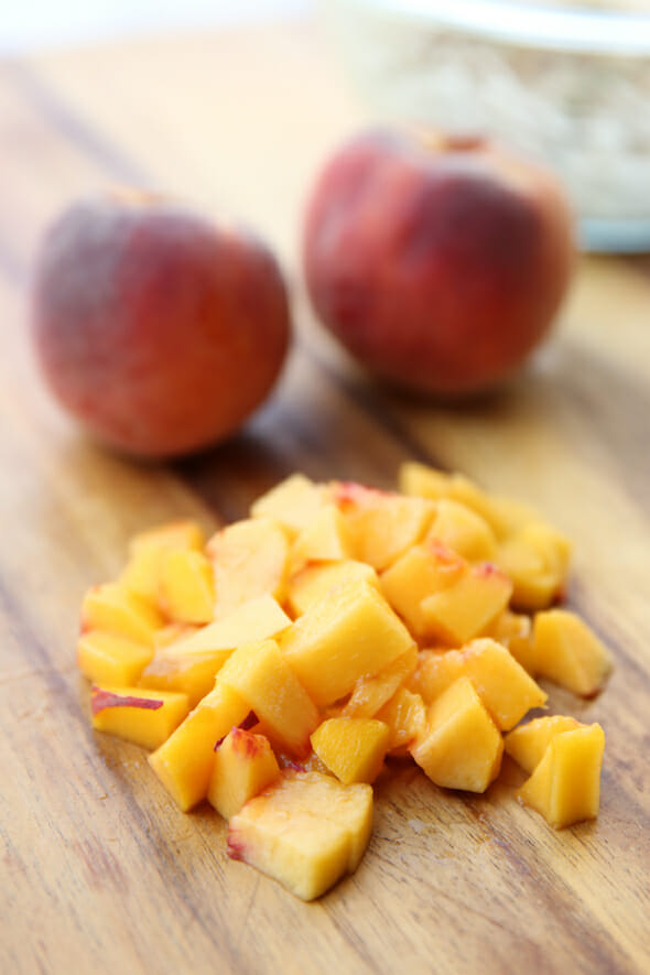 Diced Peaches