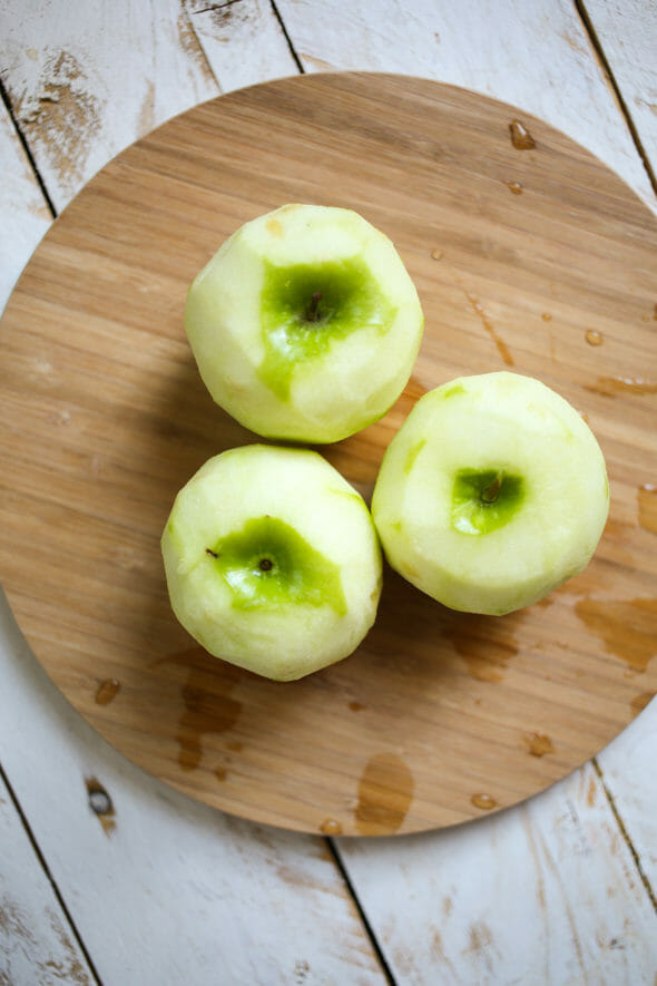apple fritters peeled granny smith apples