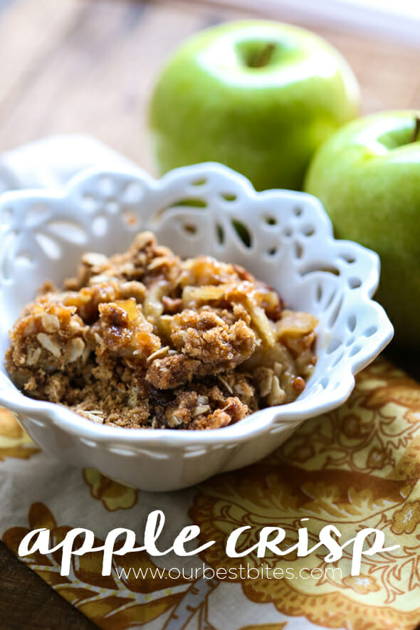 Classic apple crisp recipe from Our Best Bites--best ever!!