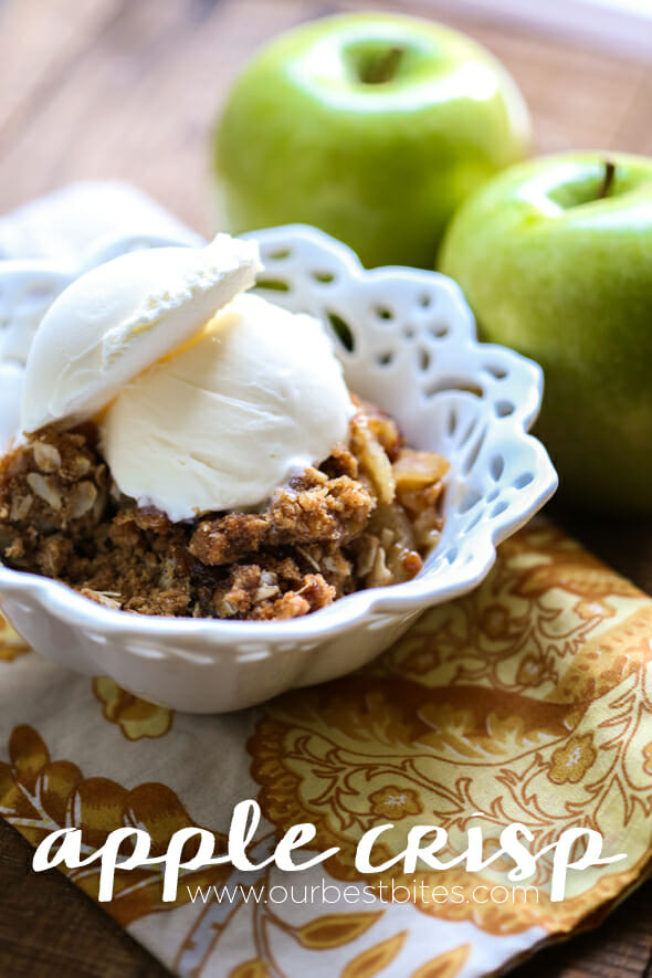 Classic Apple Crisp recipe from Our Best Bites--best ever!