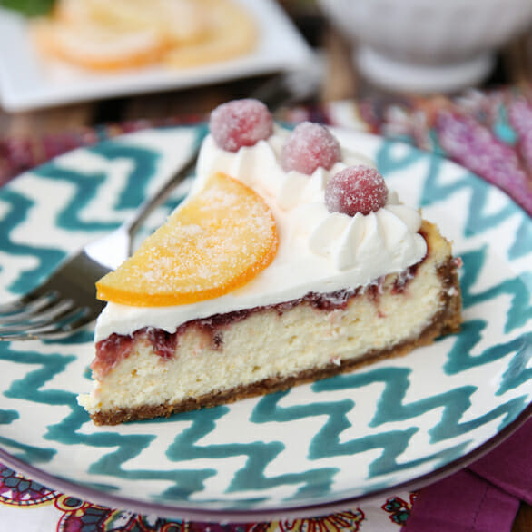 Orange-Cranberry Cheesecake