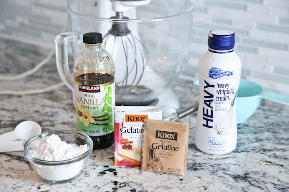 stabilized whipped cream ingredients