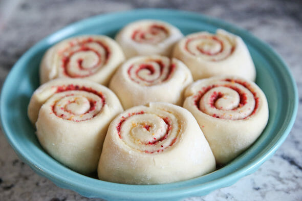 Risen Cranberry Orange Rolls