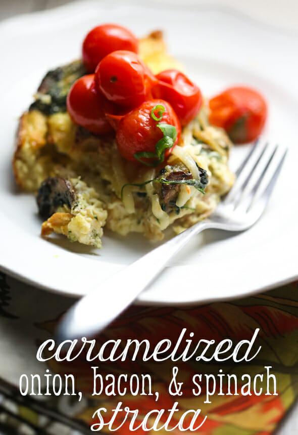 caramelized onion strata