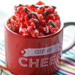 Chocolate Covered Cinnamon Bear Popcorn