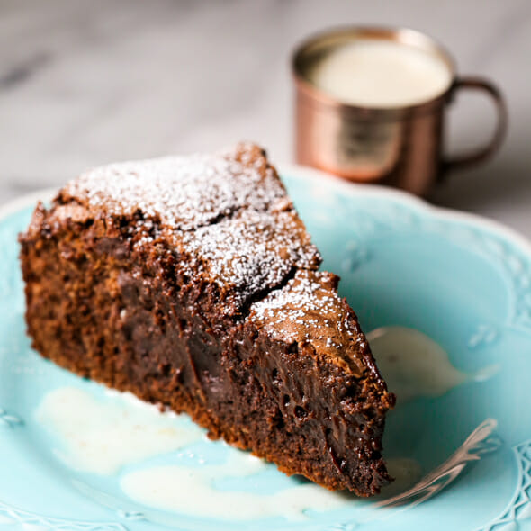 Chocolate Gâteau with Crème Anglaise, Plus a Giveaway!