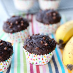 Skinny Banana Fudge Muffins