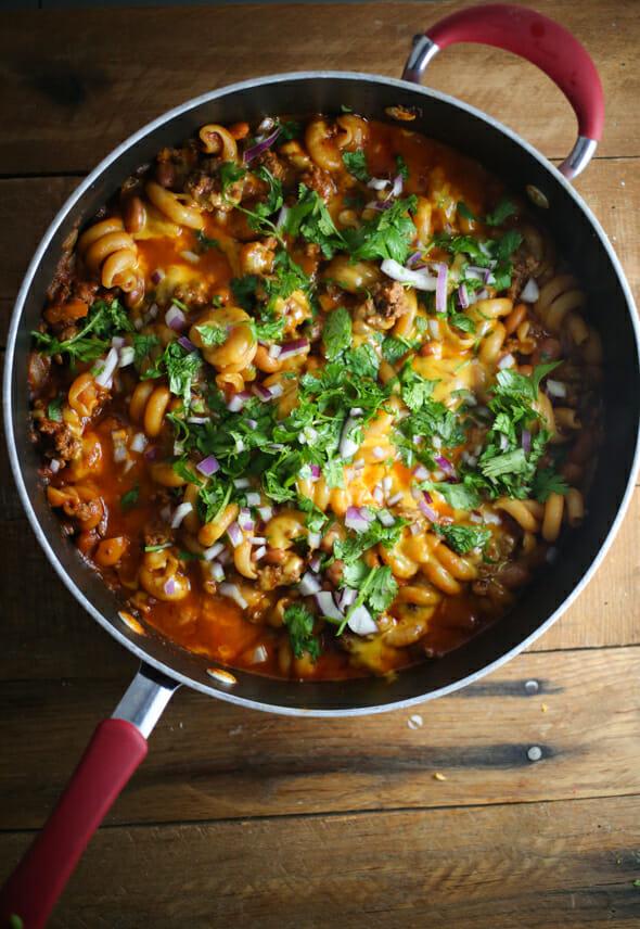 stovetop chili mac casserole-8