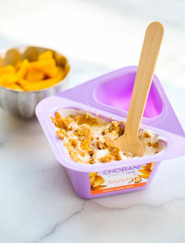 Chobani Mango Cone Crisp