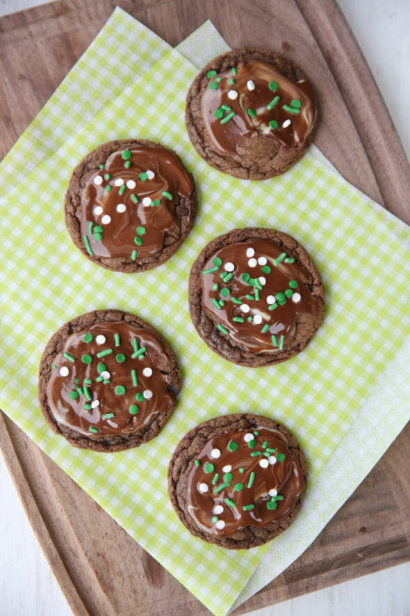 The Best Chocolate Mint Cookies
