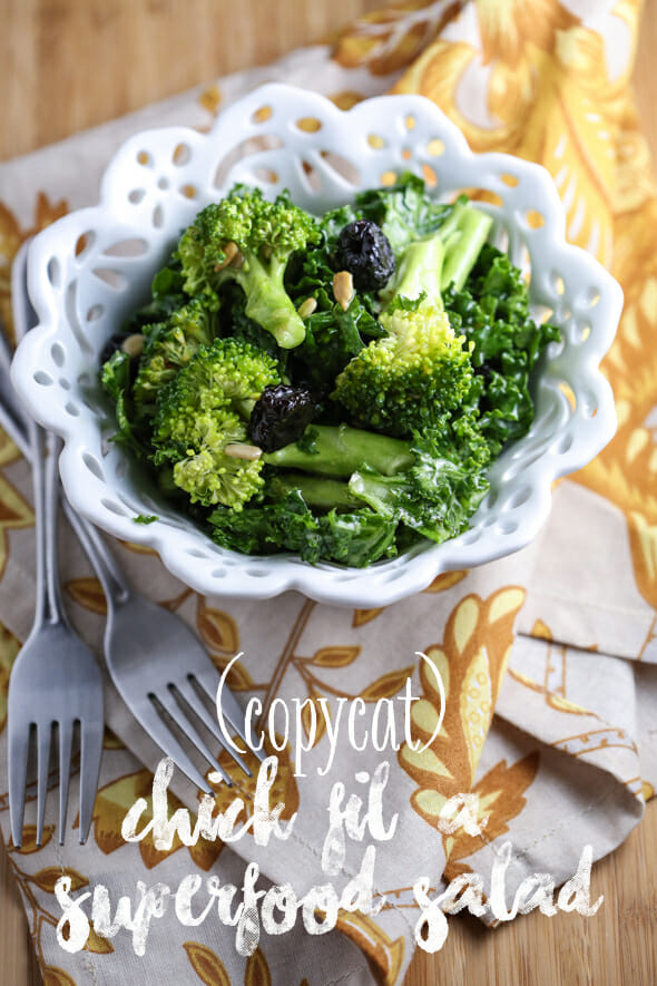 Copycat Chick Fil A Superfood Salad from Our Best Bites
