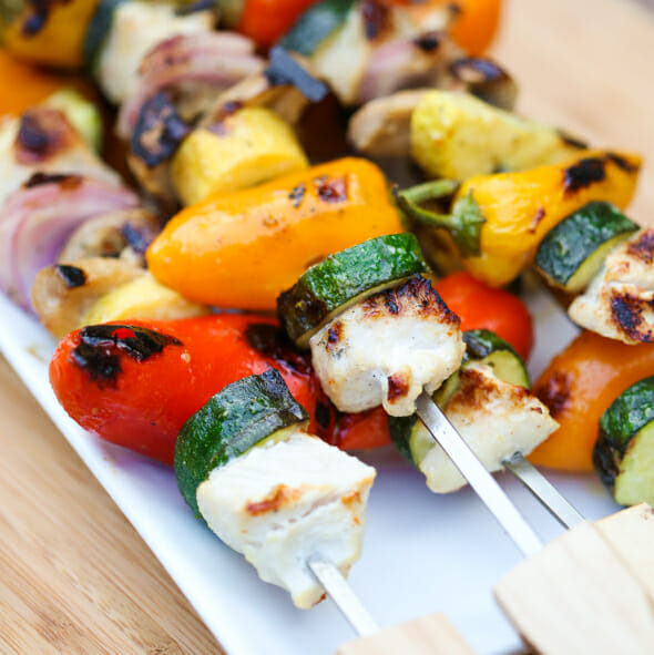 Flashback Friday: Grilled Chicken and Veggie Skewers