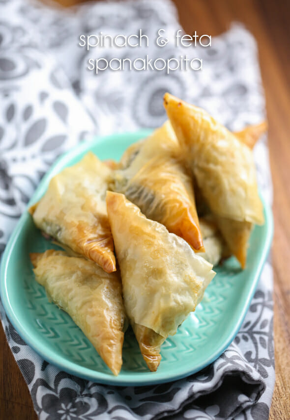 Celebrate the release of My Big Fat Greek Wedding 2 with Spanakopita Triangles from Our Best Bites