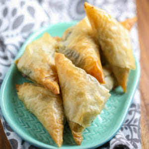 Spinach and Feta Spanakopita Triangles: My Big Fat Greek Wedding 2 Family Dinner