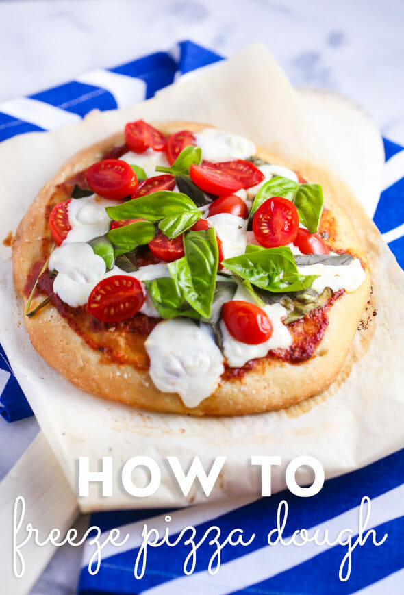 Make your own individual frozen pizza dough!