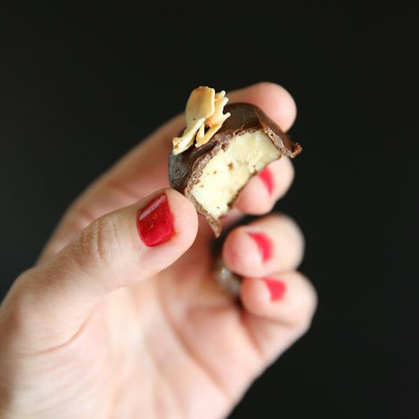 Frozen Peanut Butter-Chocolate Banana Bites