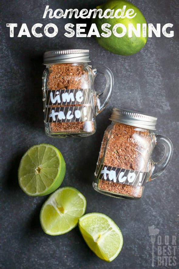 Homemade Taco Seasoning (3 varieties!) from Our Best Bites