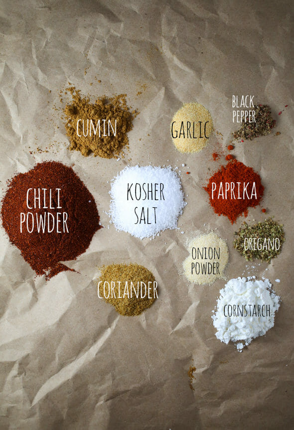 homemade taco seasoning from Our Best Bites