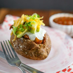 Taco-Stuffed Baked Potatoes